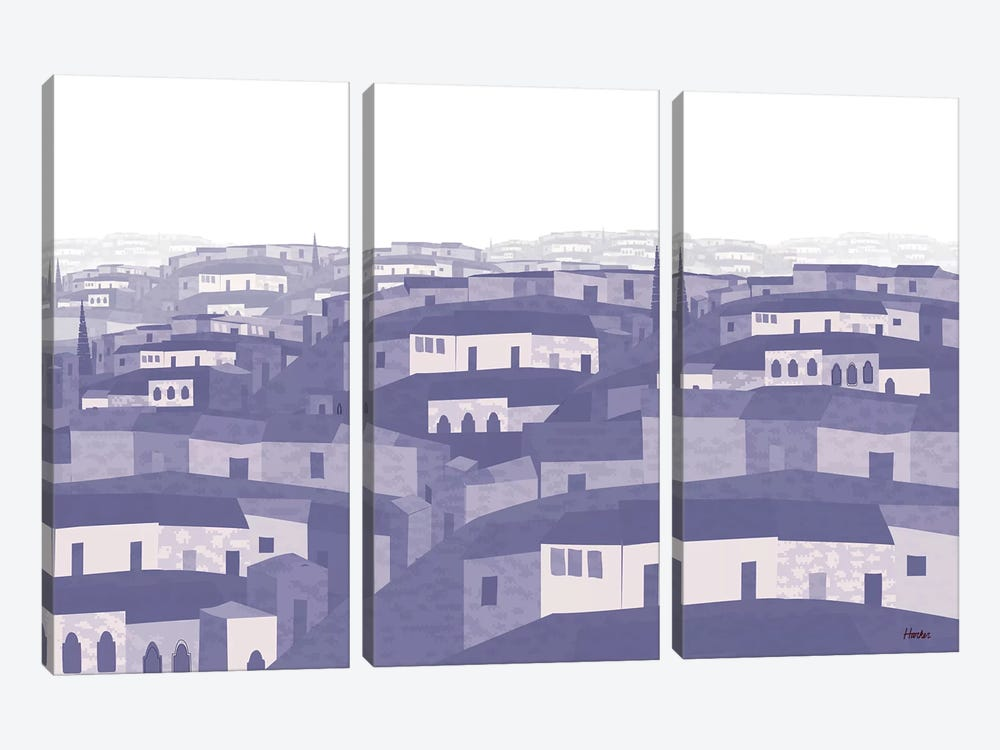 Tlalnepantla by Charles Harker 3-piece Canvas Print