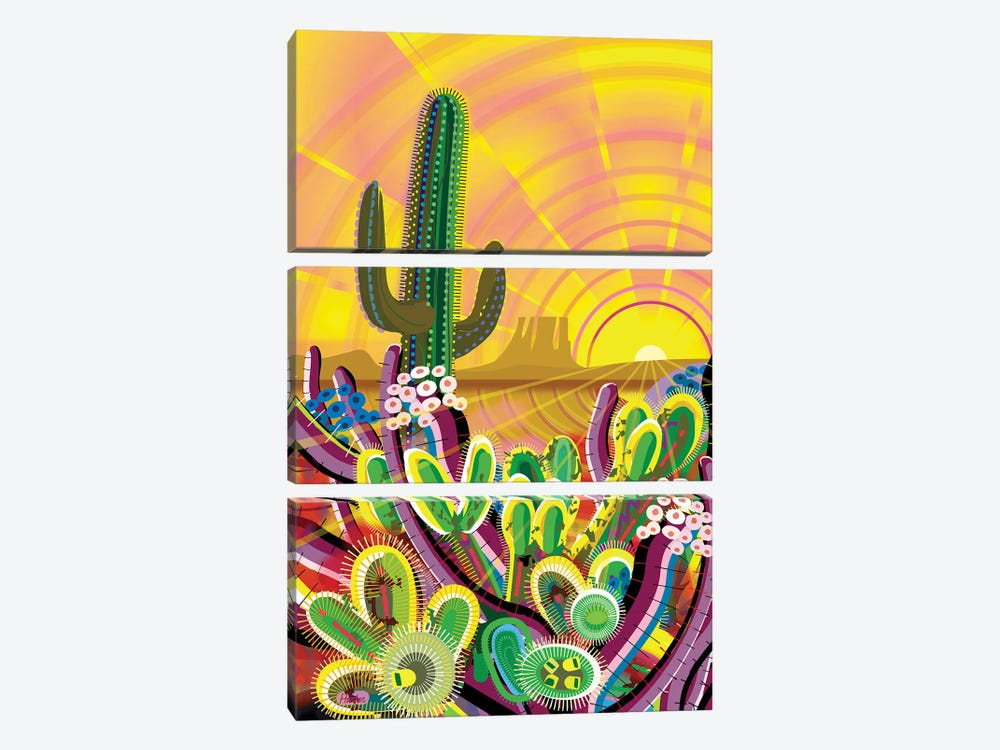 Zacaton by Charles Harker 3-piece Canvas Wall Art