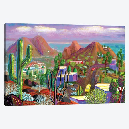 Phoenix After California Falls In The Ocean 3-Piece Canvas #HRK198} by Charles Harker Art Print
