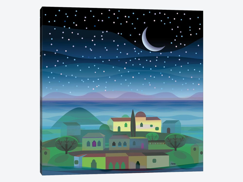 Island Moon by Charles Harker 1-piece Canvas Wall Art