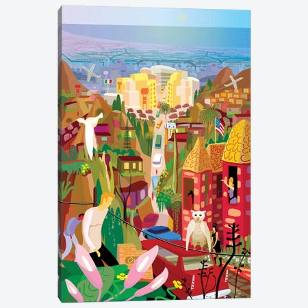 Los Angeles Canvas Print #HRK201} by Charles Harker Canvas Art Print