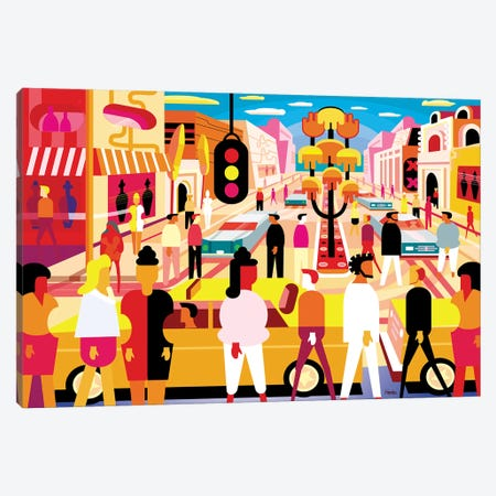 Palm Canyon Boulevard Canvas Print #HRK206} by Charles Harker Canvas Artwork