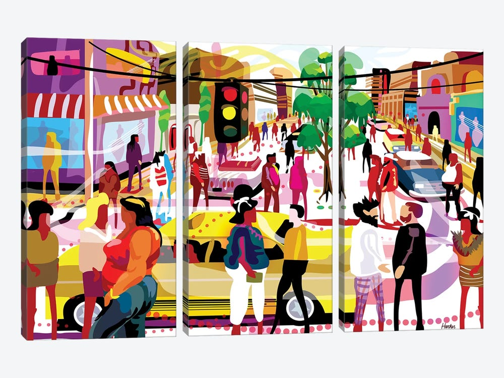 El Eje Central by Charles Harker 3-piece Canvas Artwork