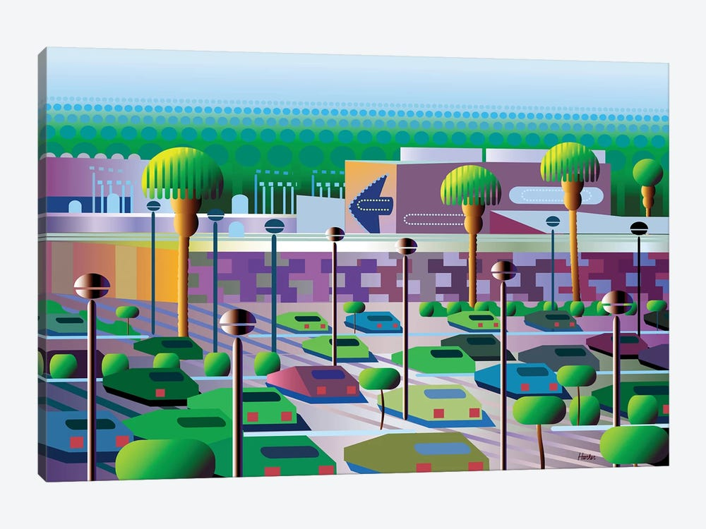 Silicon Valley by Charles Harker 1-piece Canvas Art Print