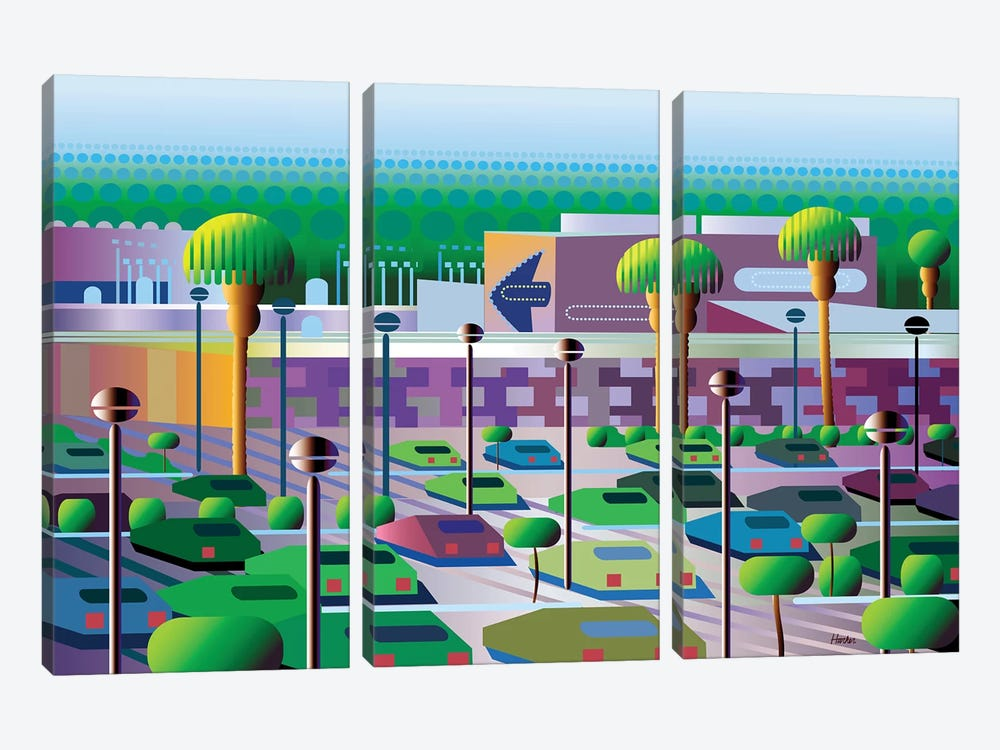 Silicon Valley by Charles Harker 3-piece Canvas Art Print