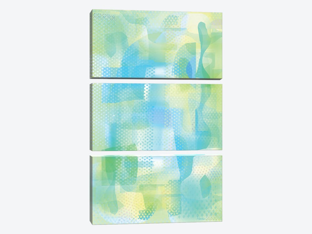 Turquoise Ether by Charles Harker 3-piece Art Print