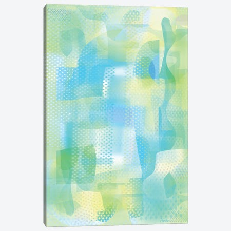 Turquoise Ether Canvas Print #HRK218} by Charles Harker Canvas Artwork