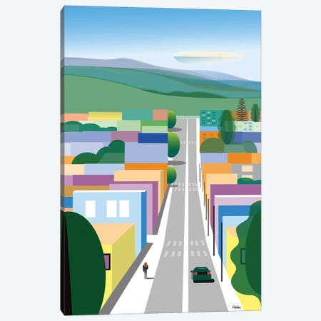 San Luis Obispo Canvas Print #HRK222} by Charles Harker Canvas Art Print