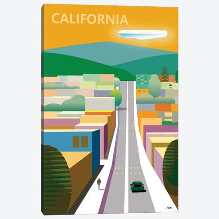 California Poster Canvas Print #HRK223} by Charles Harker Canvas Print