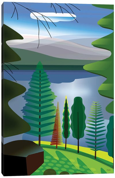 A Place At The Lake Canvas Art Print