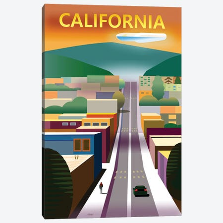 California Street Canvas Print #HRK230} by Charles Harker Canvas Artwork