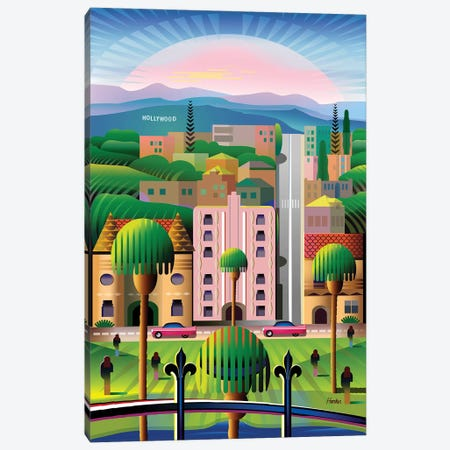 Hollywood Canvas Print #HRK233} by Charles Harker Canvas Wall Art