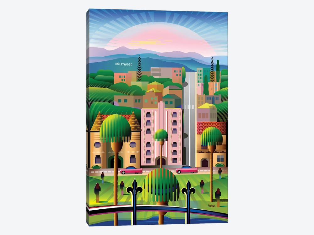 Hollywood by Charles Harker 1-piece Canvas Wall Art