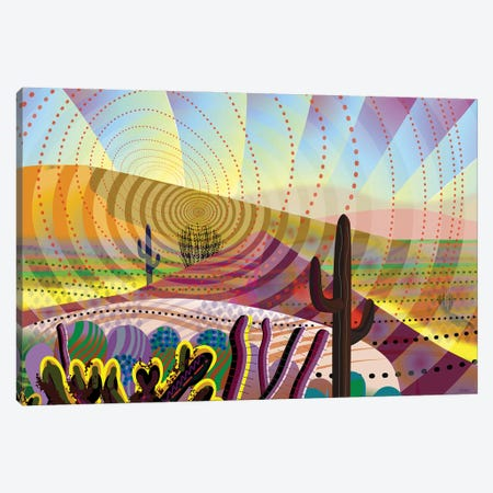 Desert Eye Canvas Print #HRK234} by Charles Harker Art Print