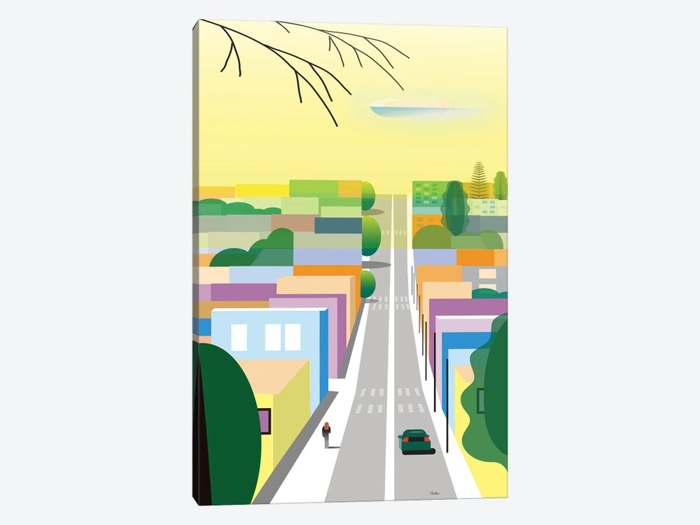 West Hollywood by Charles Harker 1-piece Canvas Wall Art