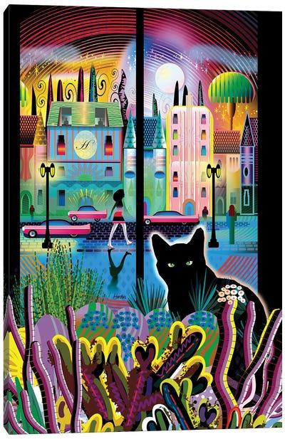 Cat Moon Do Canvas Art Print