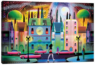 Hollywoodland Canvas Art Print