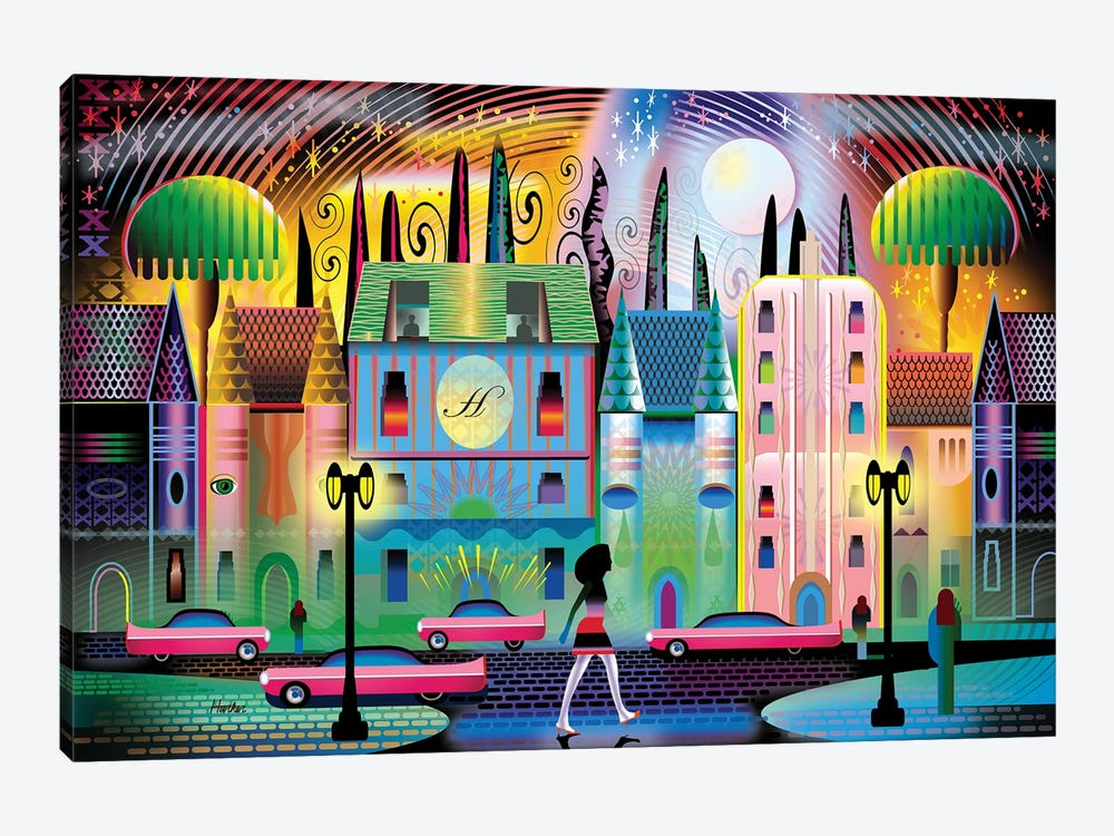 Hollywoodland by Charles Harker 1-piece Canvas Wall Art