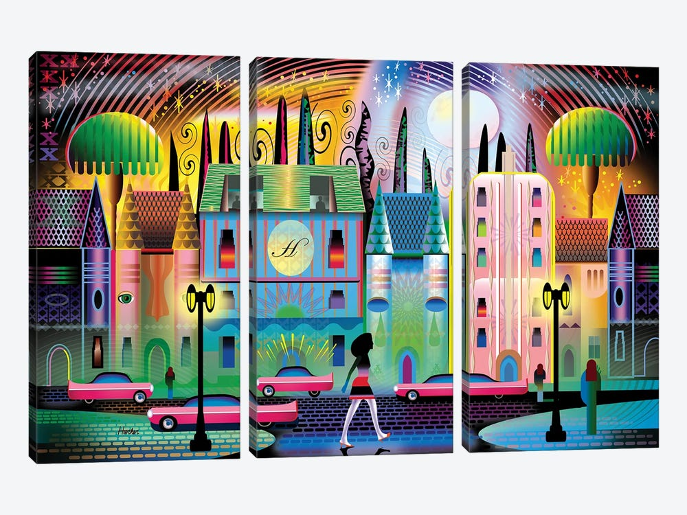 Hollywoodland by Charles Harker 3-piece Canvas Artwork
