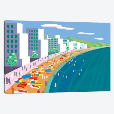 Malecon Canvas Print #HRK23} by Charles Harker Art Print