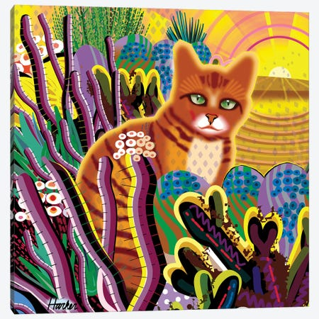 Coco Vega As A Cat Canvas Print #HRK243} by Charles Harker Canvas Print
