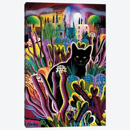 Le Chat Noir Canvas Print #HRK244} by Charles Harker Canvas Artwork