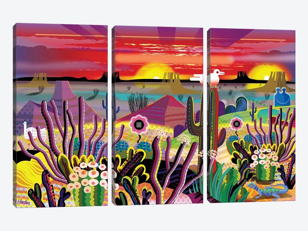 Garden Of Eden by Charles Harker 3-piece Canvas Art