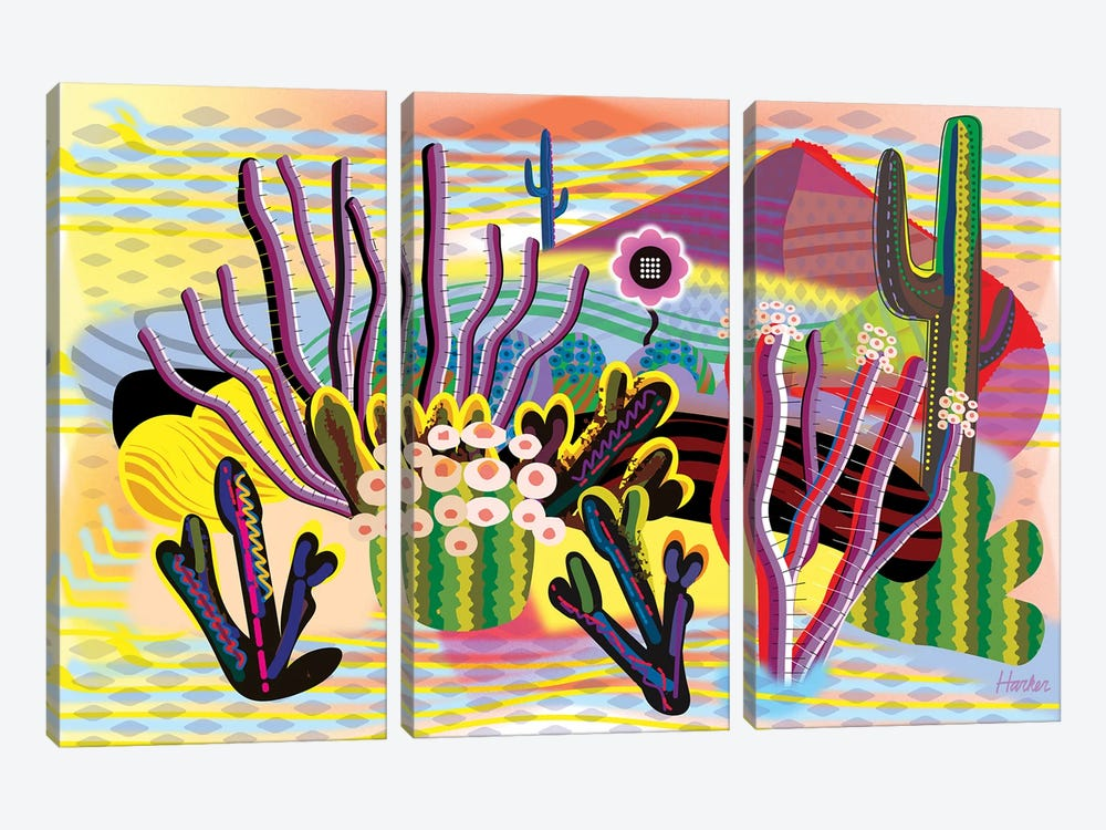 Ayahuasca Garden by Charles Harker 3-piece Canvas Artwork