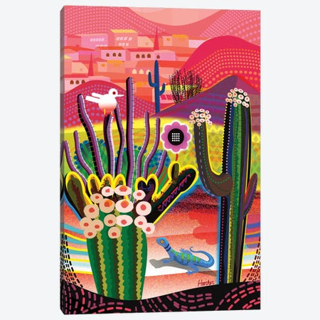 Desert Flowers Canvas Print #HRK254} by Charles Harker Art Print