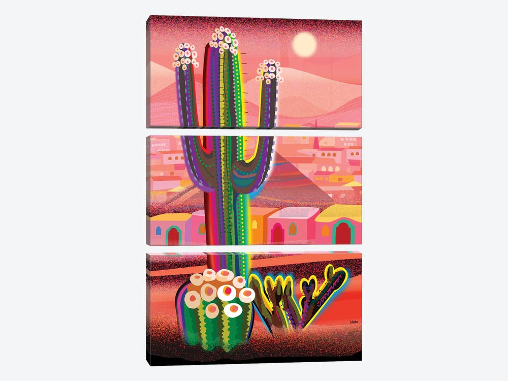 Zacatecas by Charles Harker 3-piece Canvas Print