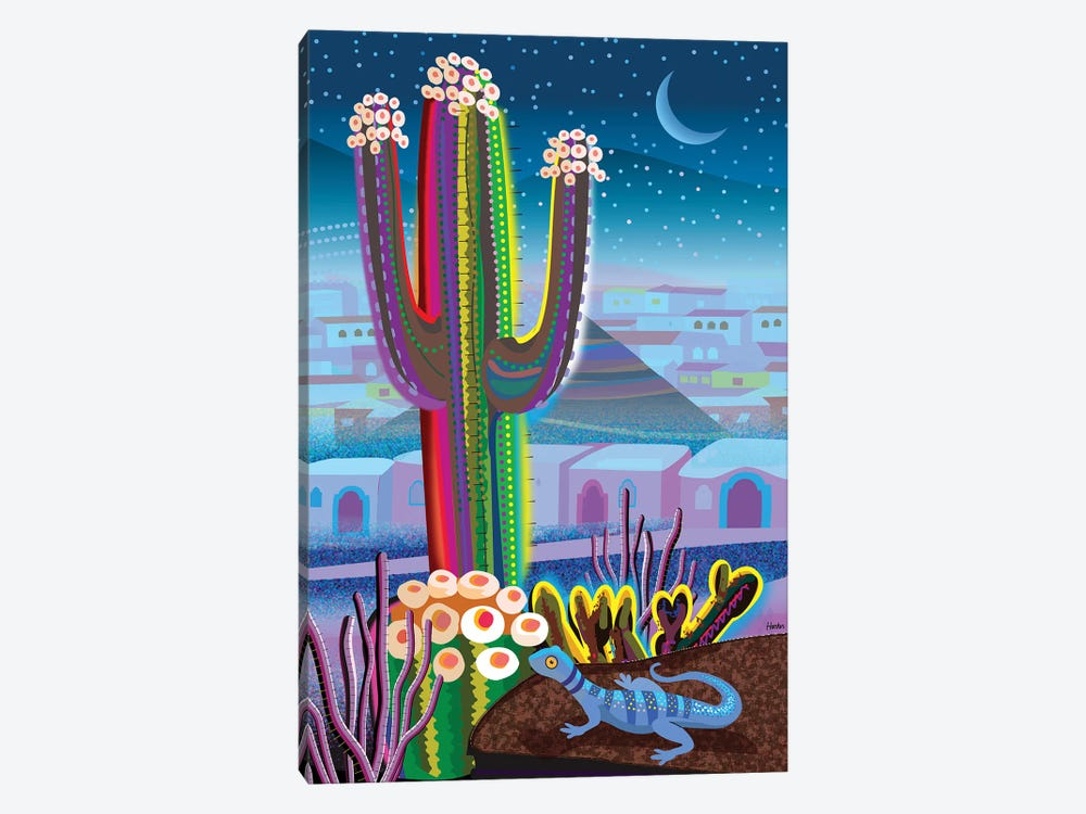 Blue Night Desert by Charles Harker 1-piece Art Print