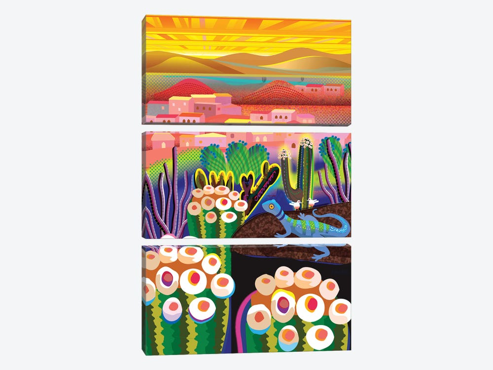 Wonder Valley by Charles Harker 3-piece Canvas Art Print
