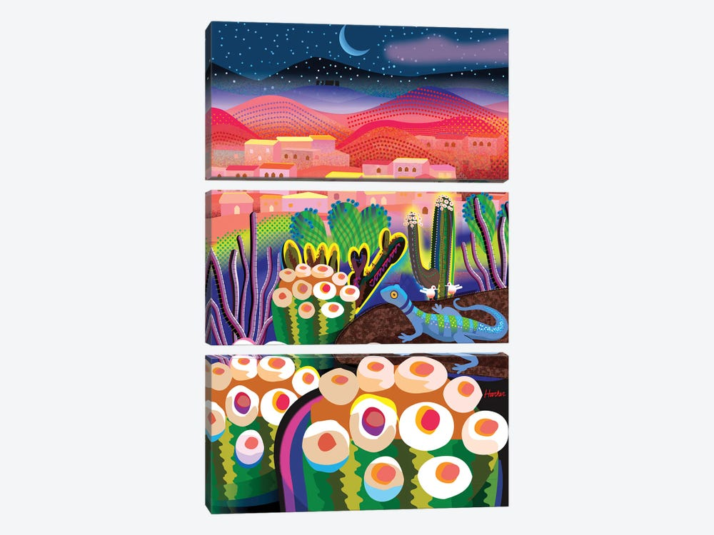 Wonder Valley Night by Charles Harker 3-piece Canvas Wall Art