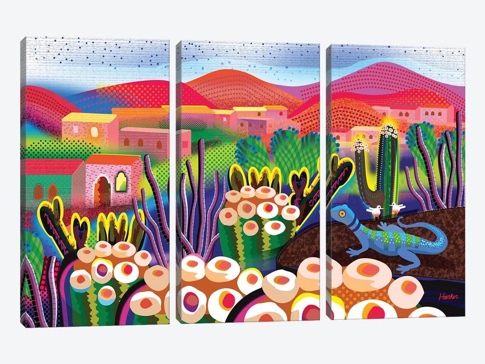 San Agustin Etla by Charles Harker 3-piece Canvas Art Print