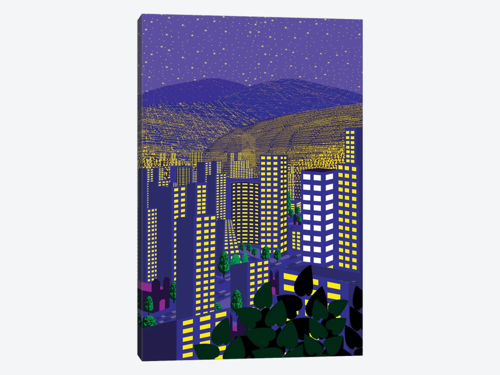 Mexico City At Night by Charles Harker 1-piece Canvas Print