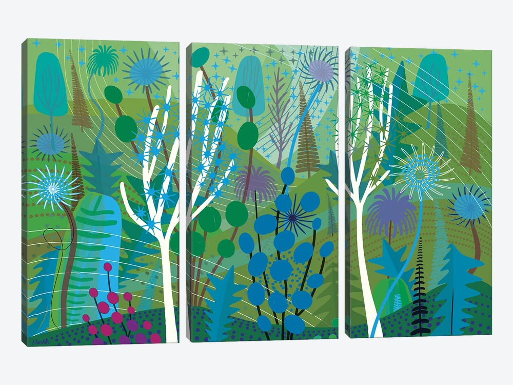 Lime by Charles Harker 3-piece Canvas Artwork