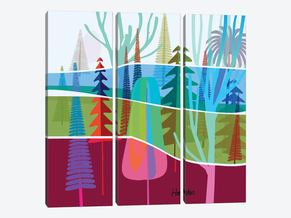 Torrey Pines by Charles Harker 3-piece Canvas Artwork