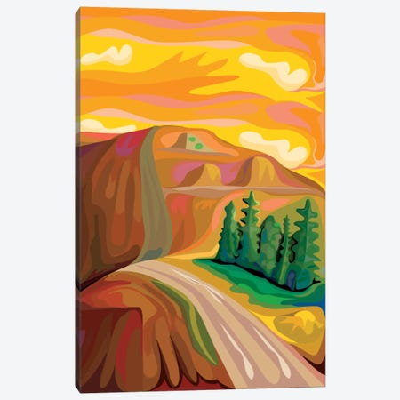 Mountain Road Canvas Print #HRK30} by Charles Harker Canvas Artwork