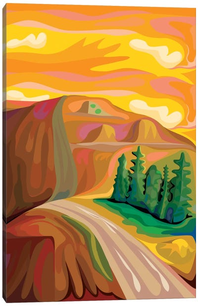 Mountain Road Canvas Art Print