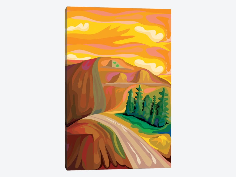 Mountain Road by Charles Harker 1-piece Canvas Artwork