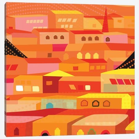 Oaxaca Houses Canvas Print #HRK31} by Charles Harker Canvas Wall Art