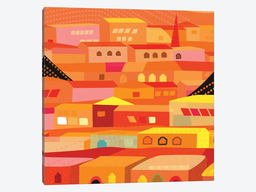 Oaxaca Houses 1-piece Art Print
