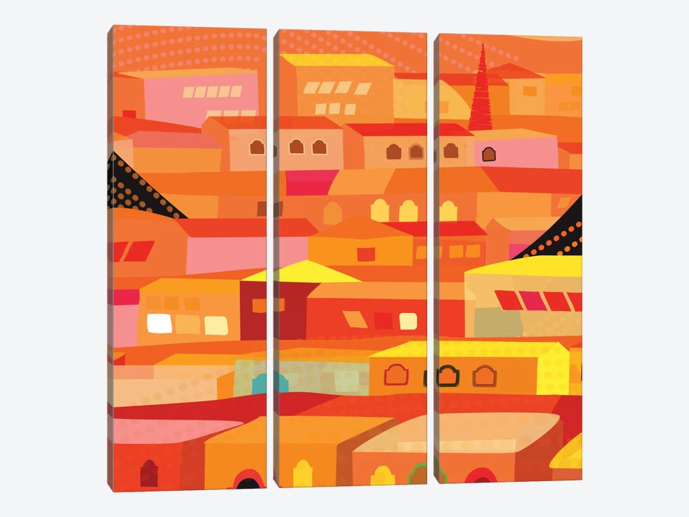 Oaxaca Houses 3-piece Canvas Art Print