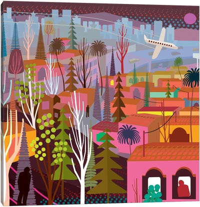 Periferico Sur Canvas Art Print