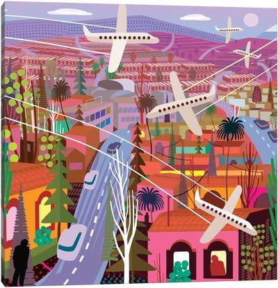 Popocatepetl From Sunset Boulevard Canvas Art Print