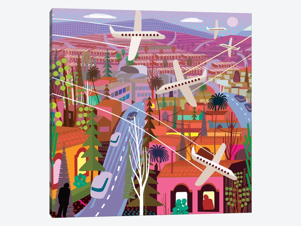 Popocatepetl From Sunset Boulevard by Charles Harker 1-piece Art Print