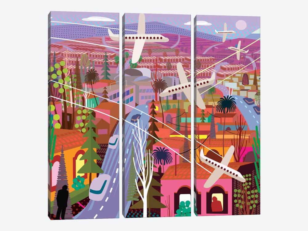 Popocatepetl From Sunset Boulevard by Charles Harker 3-piece Canvas Art Print