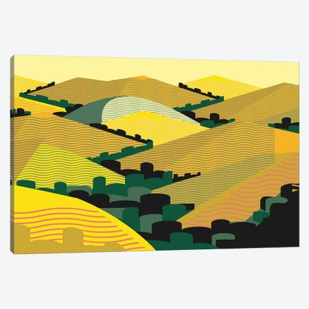 California Hills Canvas Print #HRK3} by Charles Harker Art Print