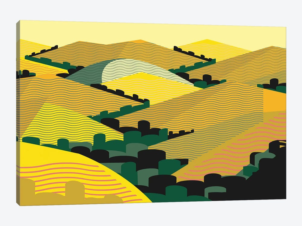 California Hills by Charles Harker 1-piece Canvas Wall Art