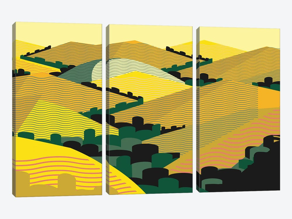 California Hills by Charles Harker 3-piece Canvas Art